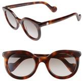 Moncler Women's 51Mm Sunglasses - Blonde Havana / Gradient Smoke