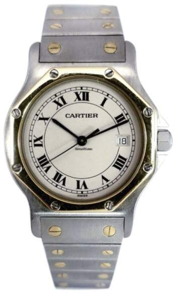 Cartier Santos Ronde 187902 18K Yellow Gold / Stainless Steel 31mm Mens Watch