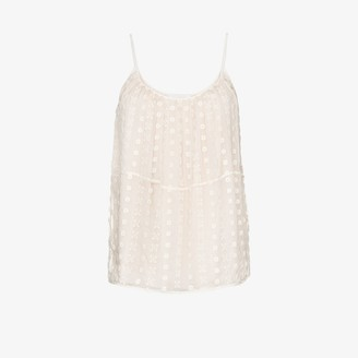 Chloé Embroidered-Lace Camisole Top