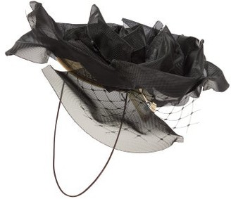 Stephen Jones Orbit Crinoline And Birdcage-veil Headdress - Black