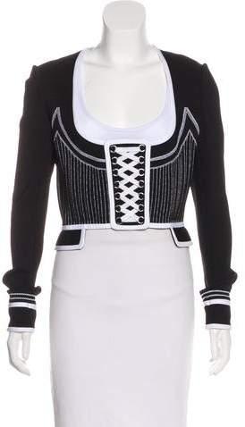 Givenchy Long Sleeve Lace-Up Jacket
