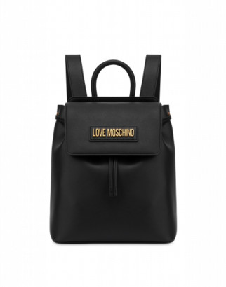 Love Moschino Backpack With Lettering Logo Woman Black Size U It - (one Size Us)