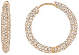 Nadri 18K Gold Plated Crystal Pave Hoop Earrings