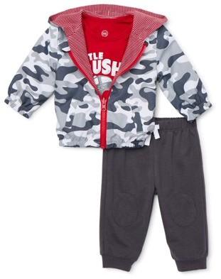 Wonder Nation Baby Boy Reversible Windbreaker Jacket, T-shirt & Jogger Pants, 3pc Outfit Set (Baby Boys)