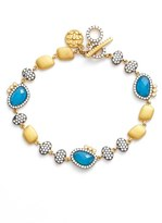 Freida Rothman Women's Baroque Blues Toggle Bracelet