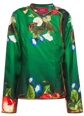 F.R.S For Restless Sleepers Adefagia Printed Silk-twill Blouse