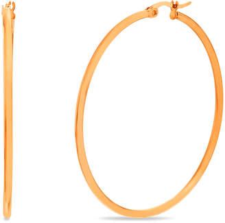 Bliss Women's Earrings Rose - Rose Goldtone Hoop Earrings