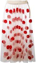 MSGM dot design tulle skirt