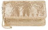 Nordstrom Crystal Mesh Wristlet - Metallic