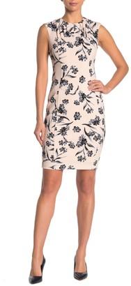 Calvin Klein Floral Pleated Sheath Dress