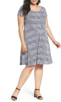MICHAEL Michael Kors Plus Size Women's Zephyr Print Fit & Flare Dress