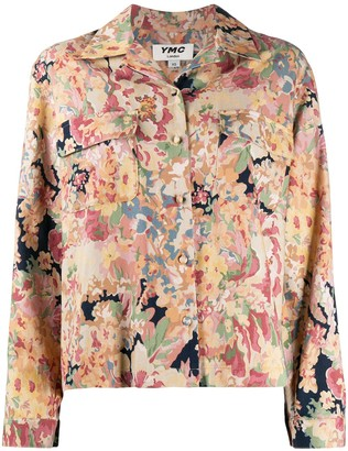 YMC Floral-Print Flap Pocket Shirt