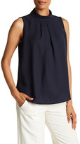 Adrienne Vittadini Sleeveless Mock Neck Blouse