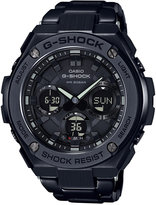 G-Shock Men's Solar Analog-Digital G-Steel Black Resin Strap Watch 52x59mm GSTS110BD-1B