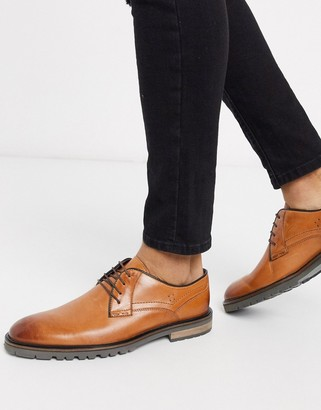 Silver Street chunky sole leather lace up in tan