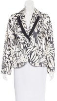 Etro Satin Abstract Print Blazer