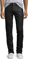 7 For All Mankind Paxtyn Coated Matte Denim Jeans, Black