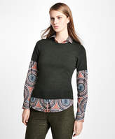 Brooks Brothers Short-Sleeve Saxxon Wool Shell