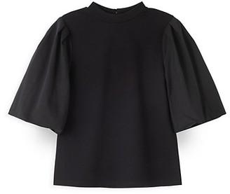 Habitual Girl's Lyla Oversized Puff-Sleeve Top