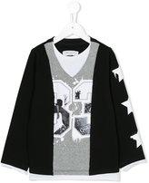 John Galliano layered sweatshirt