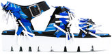 MSGM abstract print sandals