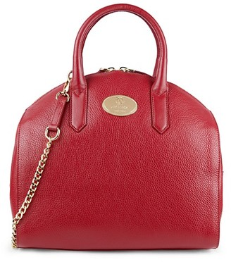 Roberto Cavalli Leather Dome Satchel