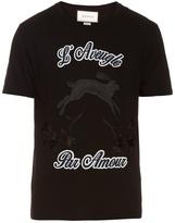 Gucci Hare-appliqué cotton-jersey T-shirt