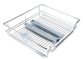 "Estink Sliding Storage DrawerKitchen Sliding Cabinet Organizer,Pull Out Chrome Wire Storage Basket Drawer for Kitchen Cabinets Cupboards,20.3""x17.3""x5.3""(WxLxH) fits inside 23.6"""