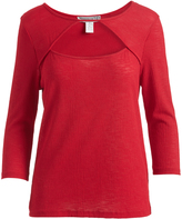 Mimichica Red Cutout Three-Quarter Sleeve Top