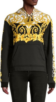 Versace Long-Sleeve Cotton-Blend Hoodie Jacket