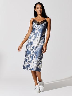 Carbon38 Lace Trimmed Slip Dress