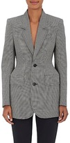 Balenciaga Women's Checked Wool-Blend Hourglass Blazer
