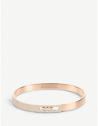 Messika Move Noa 18ct pink-gold and pave diamond bangle