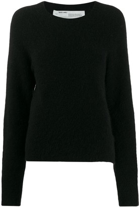 Off-White Contrast Stitched Jumper