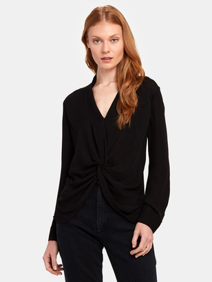 L'Agence Mariposa Long Sleeve Silk Blouse