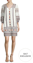 Antik Batik Dakota Cotton Embroidered Shift Dress