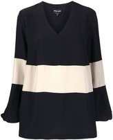Giorgio Armani colour-block blouse