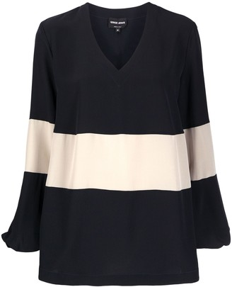 Giorgio Armani Colour-Block Blouse