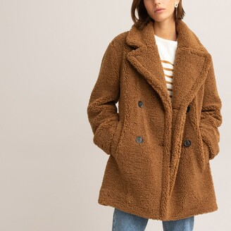 La Redoute Collections Boucle Teddy Faux Fur Coat