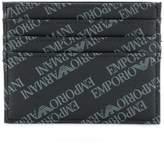 Emporio Armani bi-fold logo print wallet
