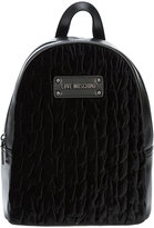 Love Moschino quilted velvet backpack