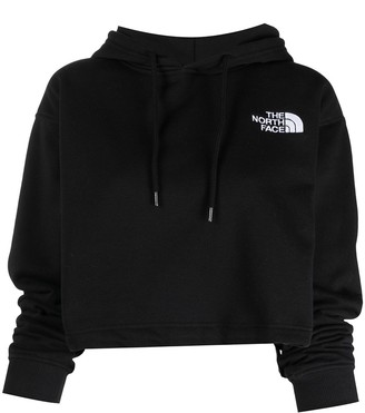 The North Face Cropped Logo-Embroidered Hoodie