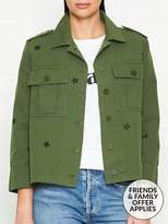 Whistles Star Embroidered Utility Jacket