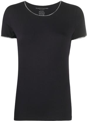 Majestic Filatures contrast-trim round neck T-shirt
