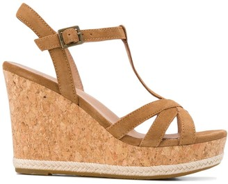 UGG T-bar wedge heel sandals