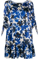 Moschino floral print tiered style dress
