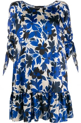 Boutique Moschino Floral Print Tiered Style Dress