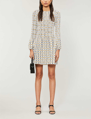 Maje Rockina graphic-print woven mini dress