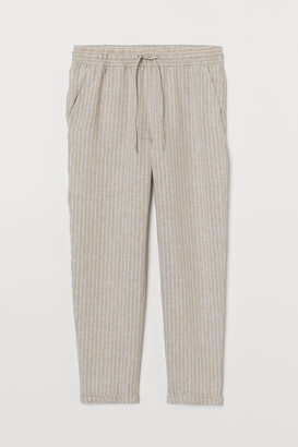 H&M Pull-on linen trousers