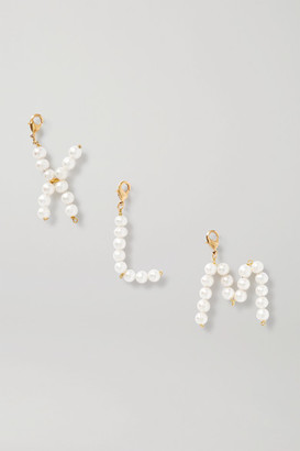 Timeless Pearly Letter Gold-tone Pearl Pendant